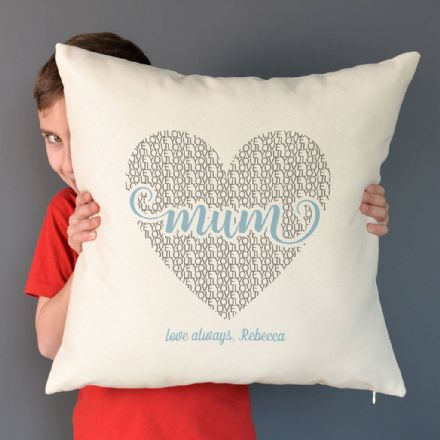 Personalised Love Mum Cushion